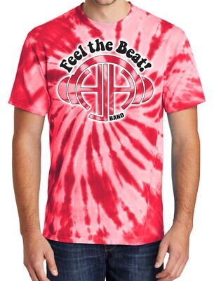 Red Tie-Dye Port & Company Short Sleeve T-Shirt with