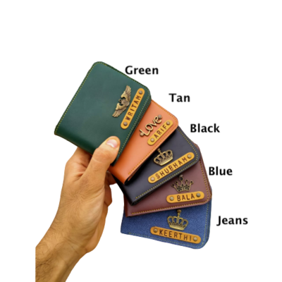 Customised Men's Wallet (Indian Leather)