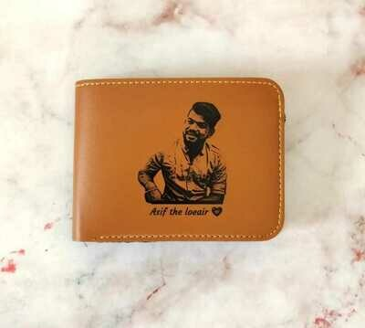 Photo Sketch Leather Wallet
