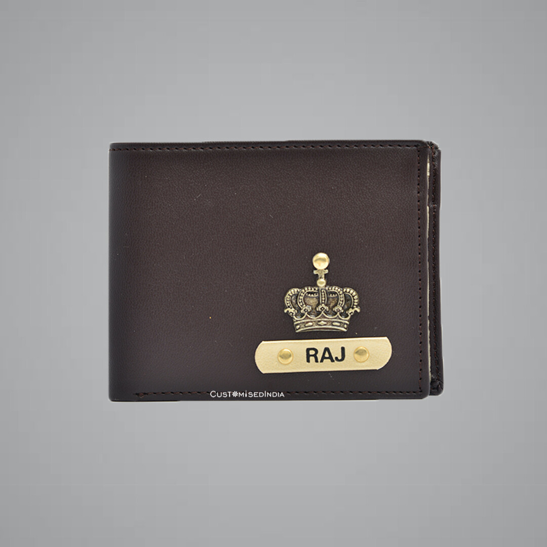 Dark Brown - Creme Imported Dual Colour Wallet