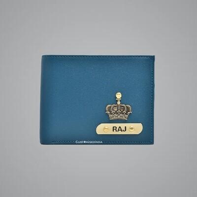 Royal Blue - Tan Imported Dual Colour Wallet