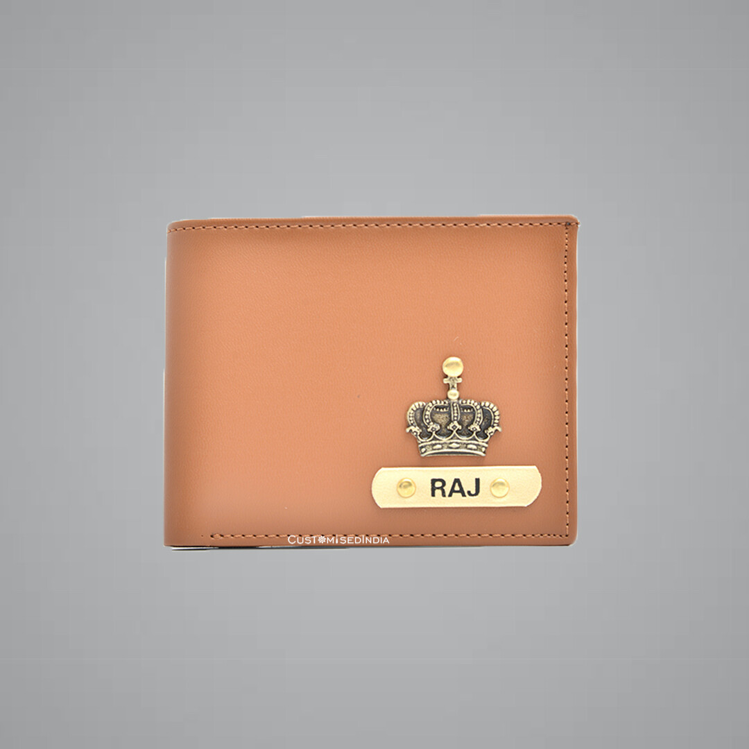Tan - Mint Green Imported Dual Colour Wallet