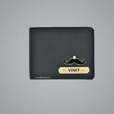 Black Genuine Leather Customised Wallet