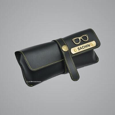 Black Customised Sunglass Holder