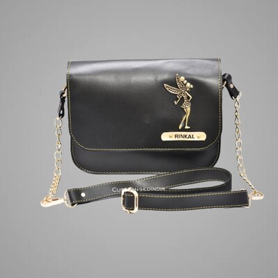 Black Customised Premium Sling Bag