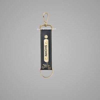 Black Customised Keychain with Hook
