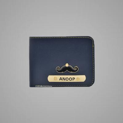Blue Indian Leather Men's Wallet