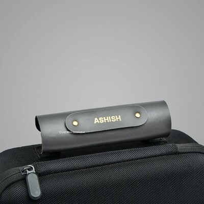 Grey Personalised Luggage Handle Cover