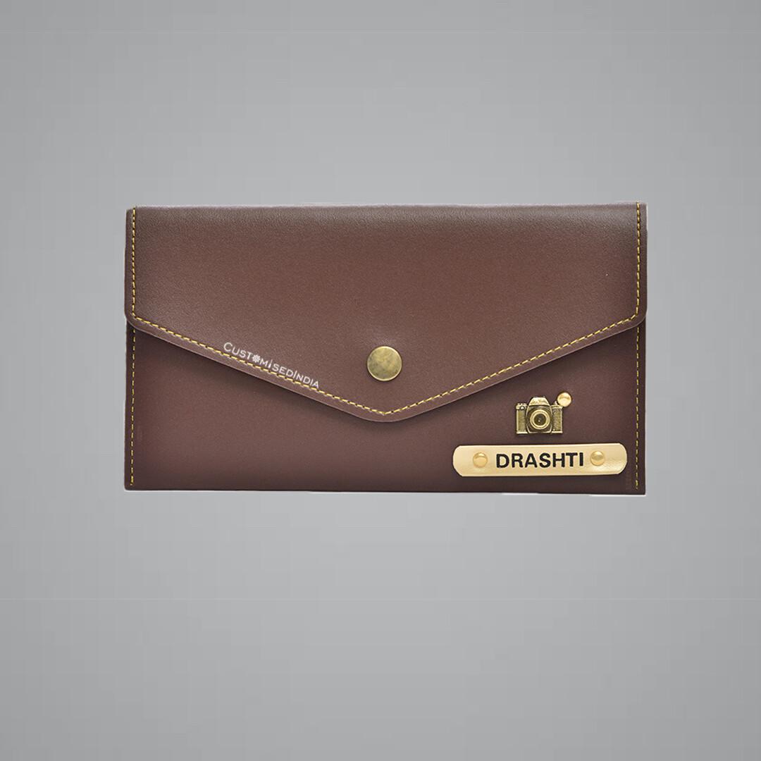 Brown Women's Minimal Clutch