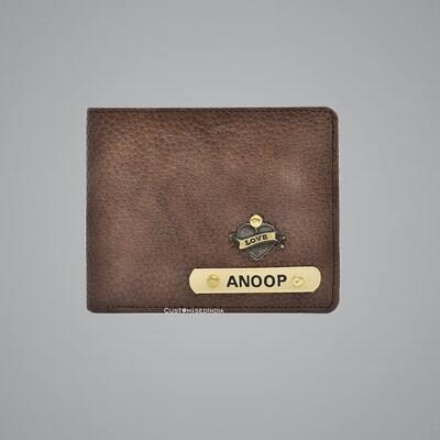 Brown Genuine Leather Customised Wallet