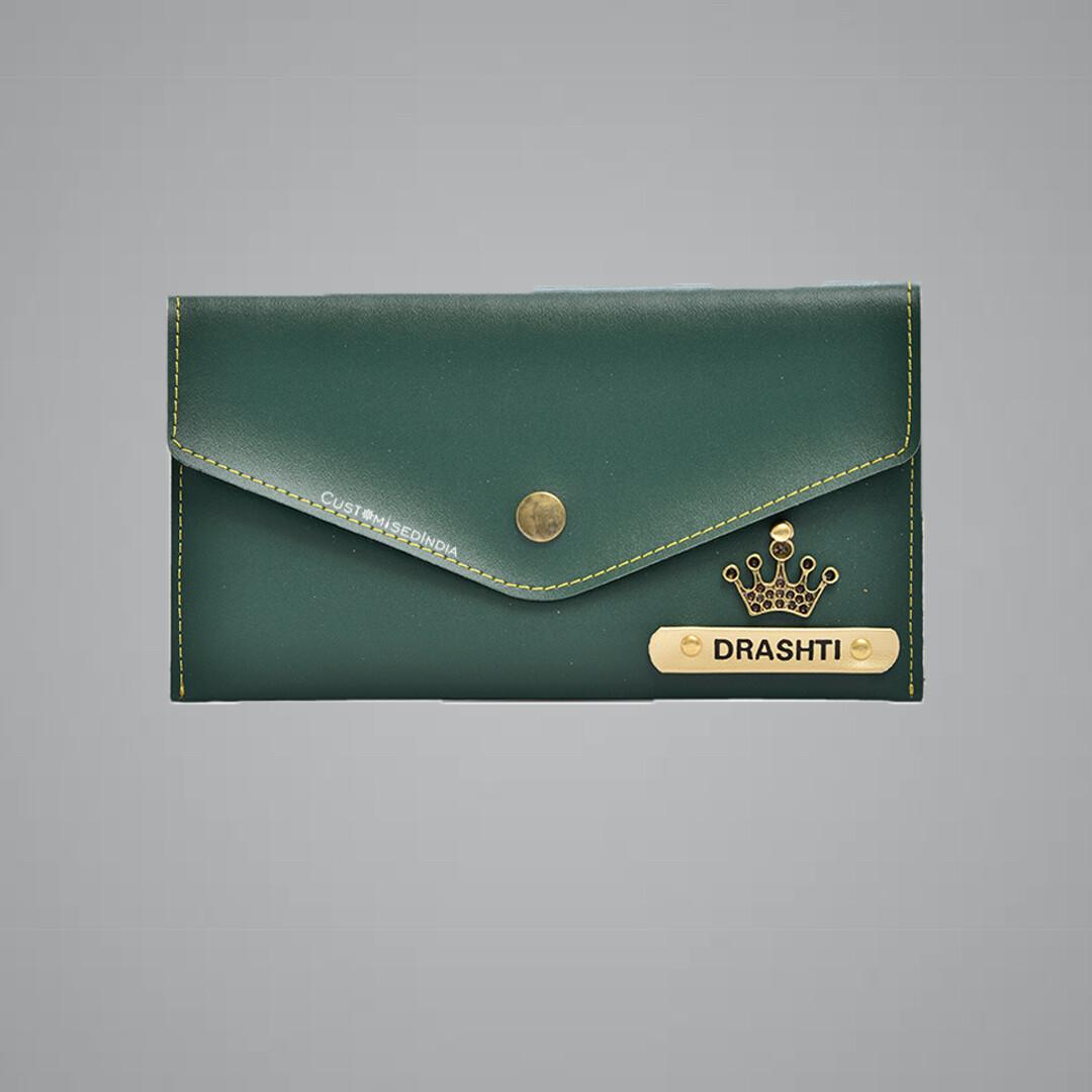 Green Women's Minimal Clutch