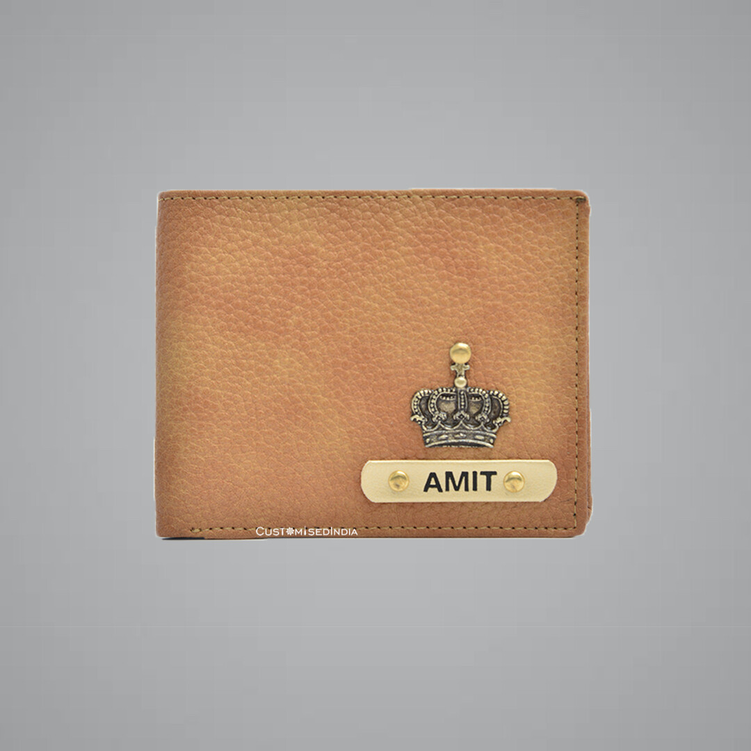 Tan Genuine Leather Customised Wallet