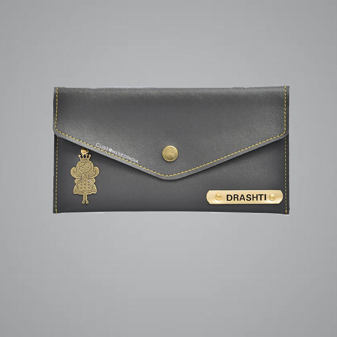 Grey Women's Minimal Clutch