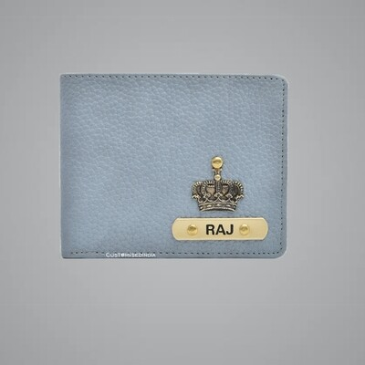 Oxy White Genuine Leather Customised Wallet
