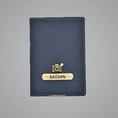 Denim Customised Passport Holder (Indian Leather)