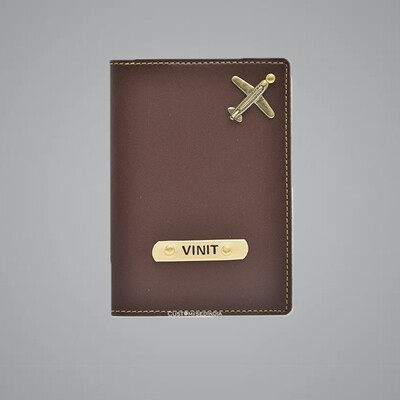 Brown Customised Passport Holder (Indian Leather)