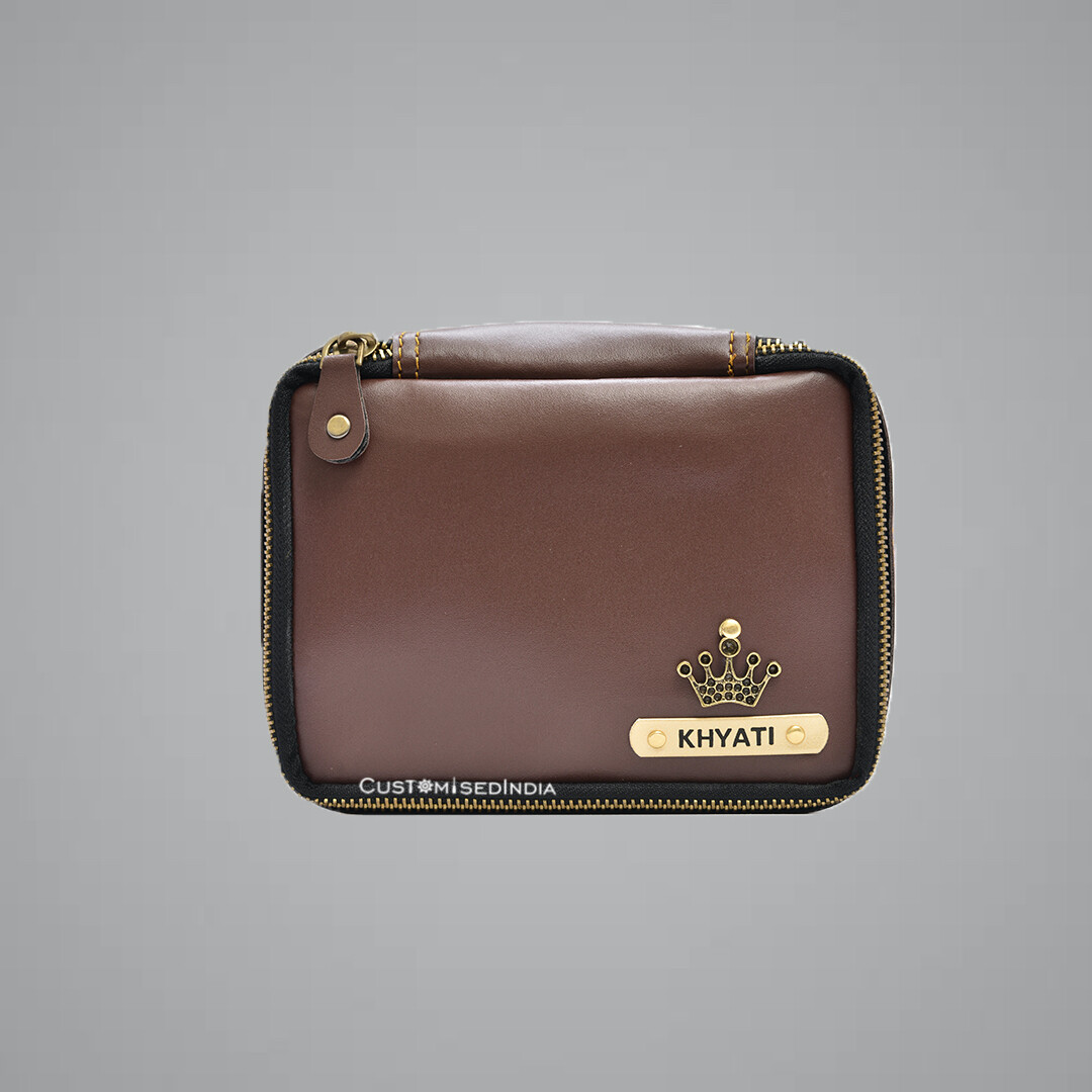 Brown Make Up Pouch (Cosmetic Pouch)
