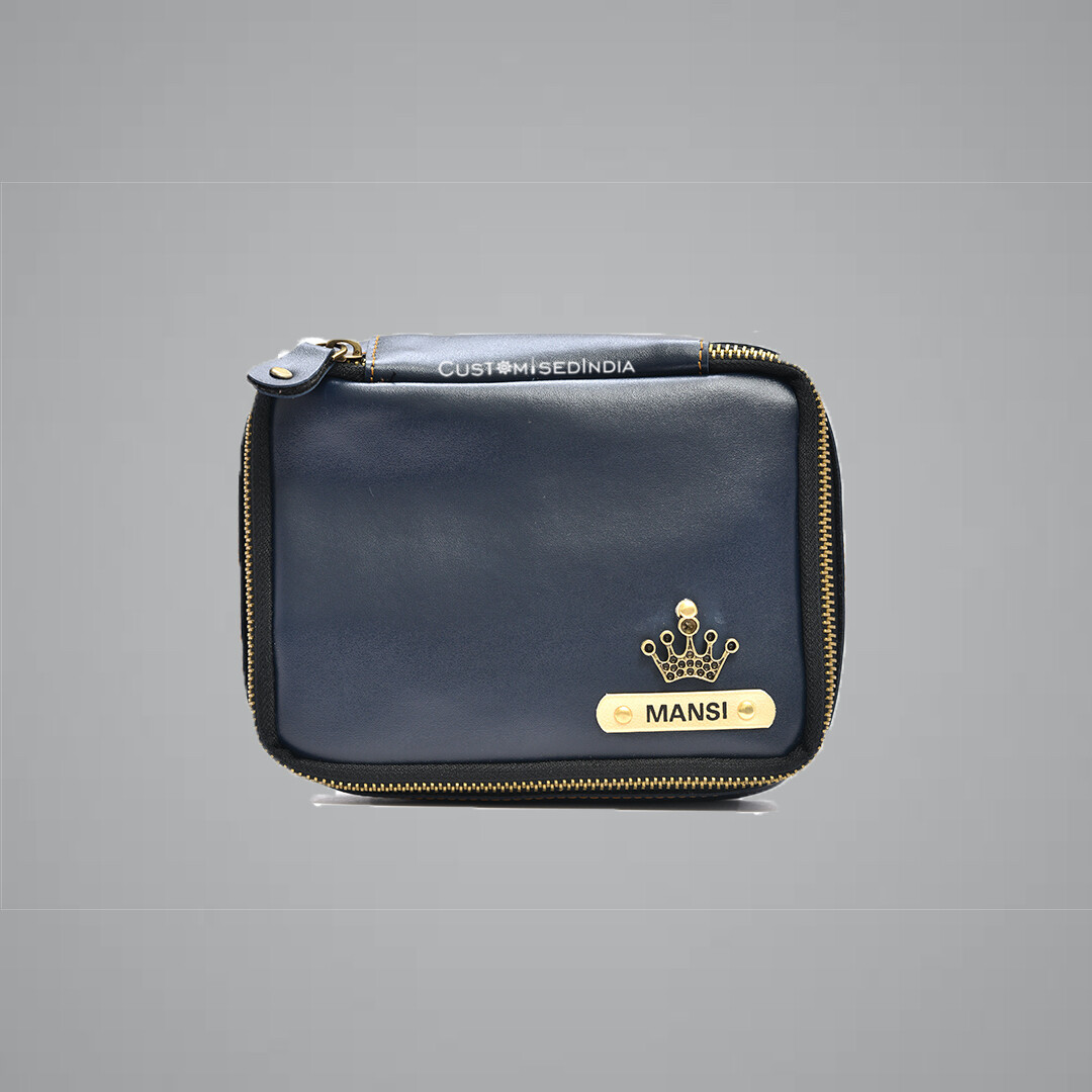 Dark Blue Make Up Pouch (Cosmetic Pouch)