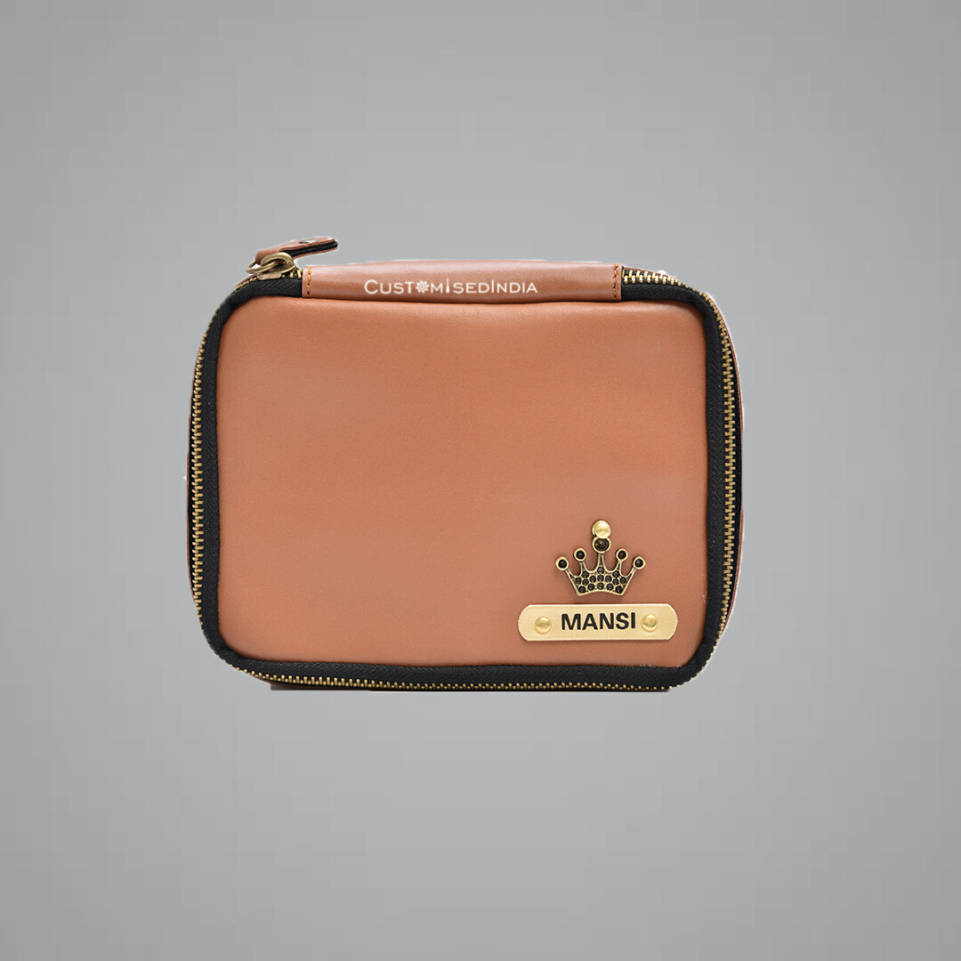 Tan Make Up Pouch (Cosmetic Pouch)