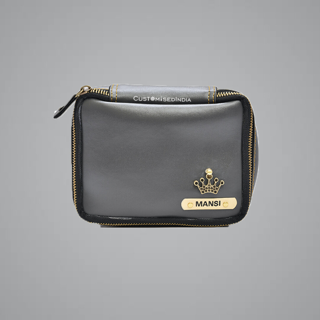 Grey Make Up Pouch (Cosmetic Pouch)