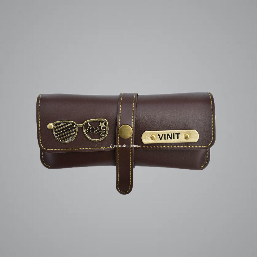 Brown Customised Sunglass Holder