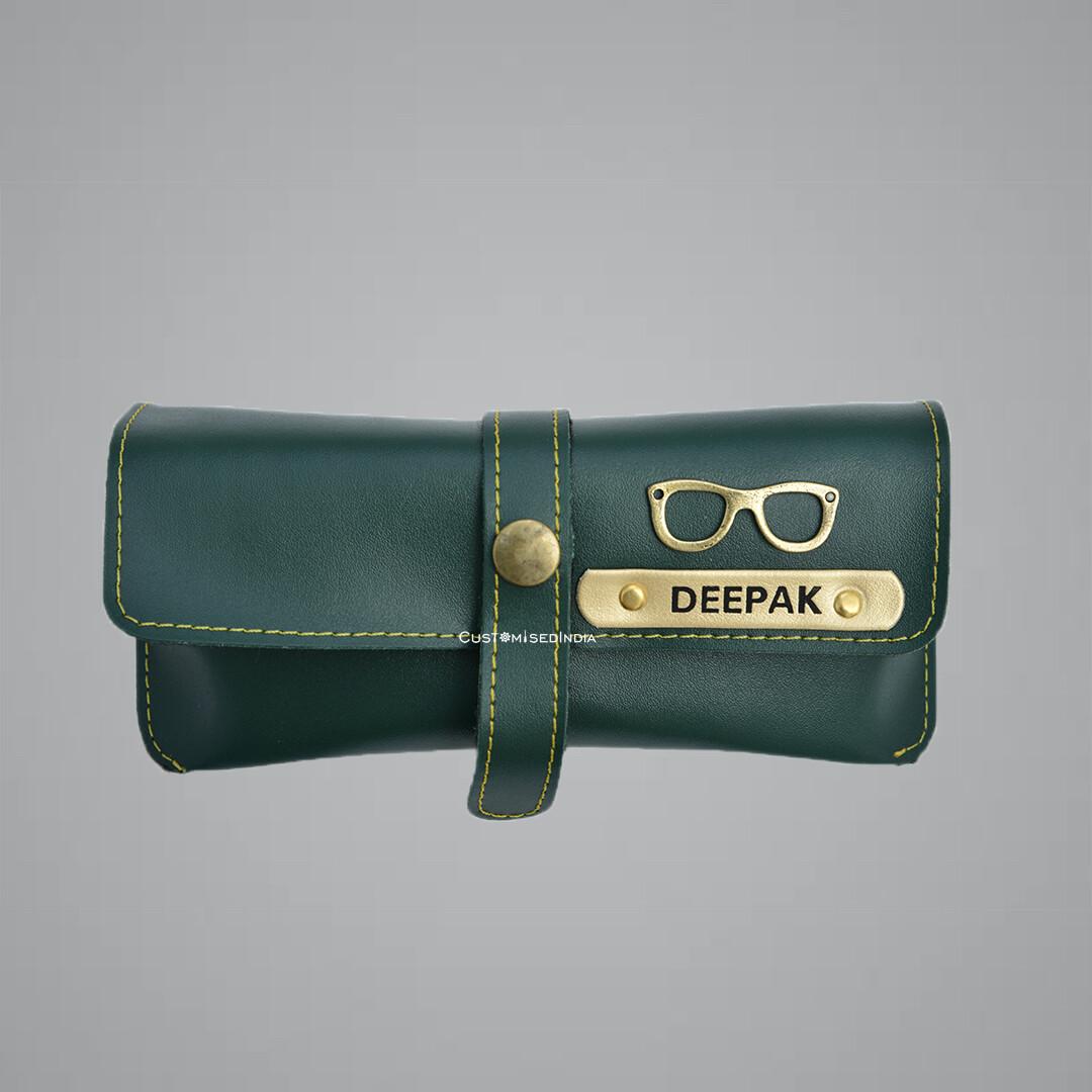 Green Customised Sunglass Holder