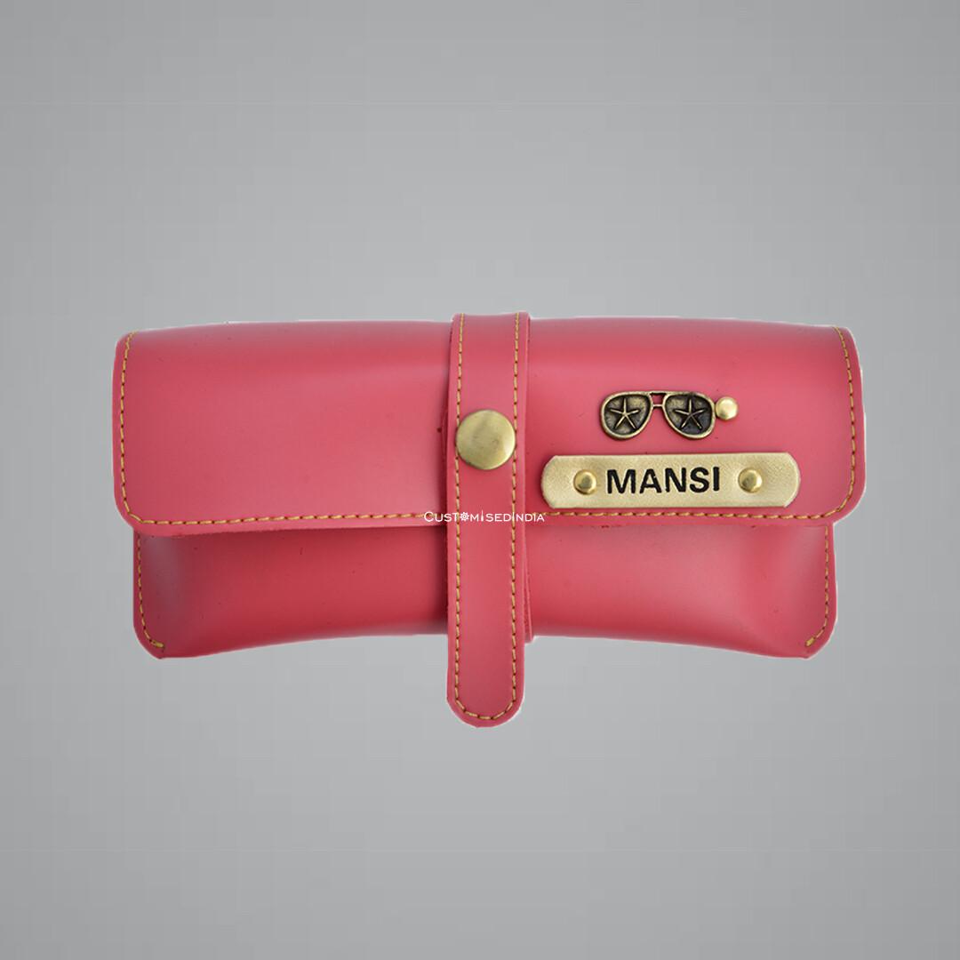 Pink Customised Sunglass Holder