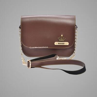 Brown Customised Premium Sling Bag