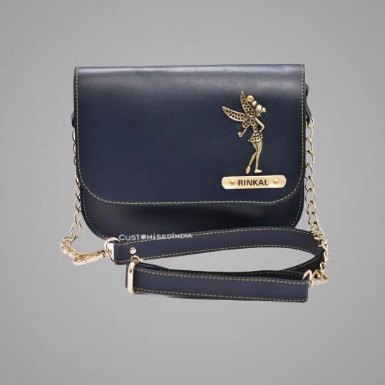 Blue Customised Premium Sling Bag