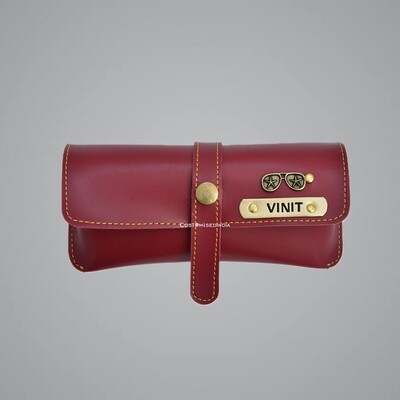 Red Customised Sunglass Holder