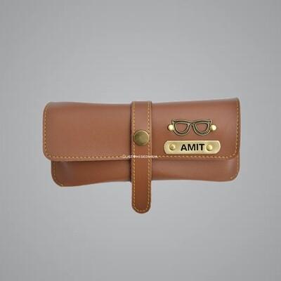 Tan Customised Sunglass Holder