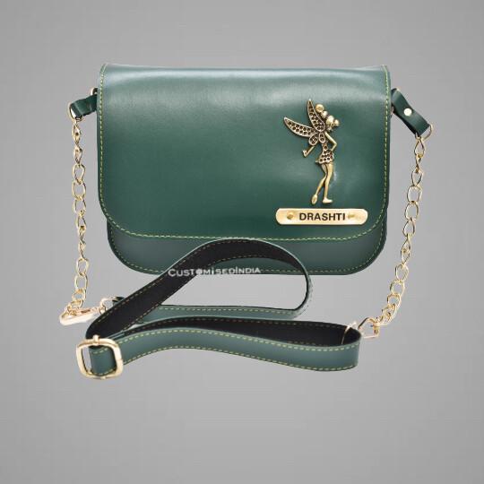 Green Customised Premium Sling Bag