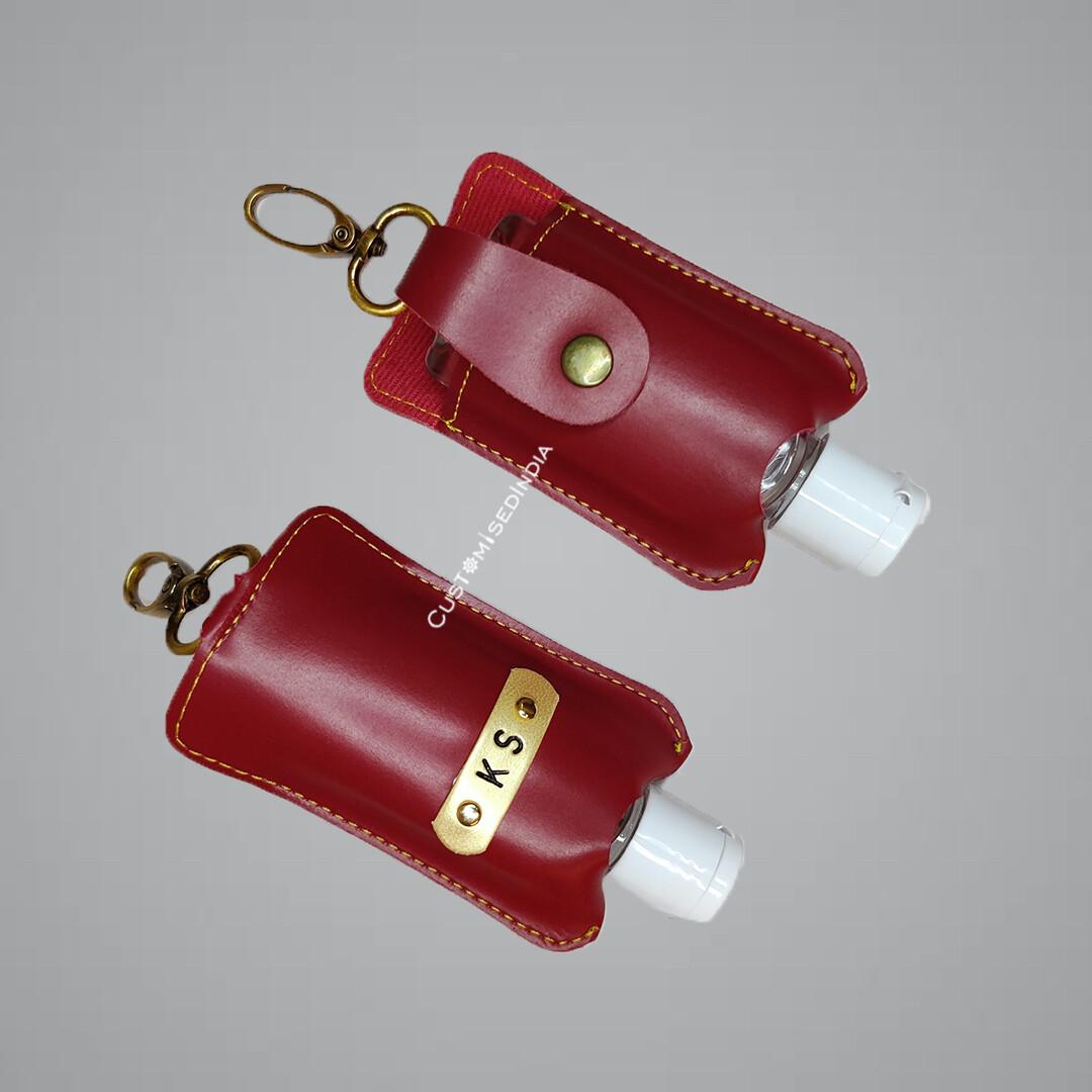 Red Customised Sanitiser Holder