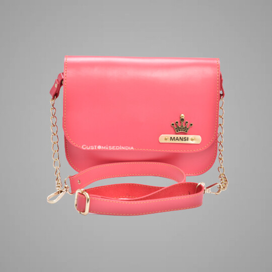 Pink Customised Premium Sling Bag