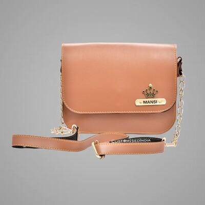 Tan Customised Premium Sling Bag