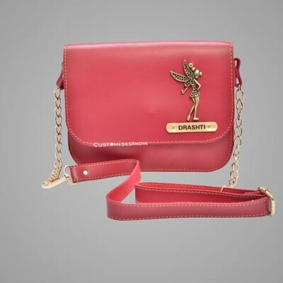 Red Customised Premium Sling Bag