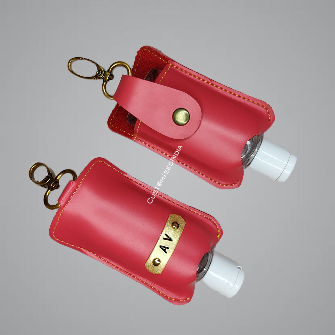 Pink Customised Sanitiser Holder