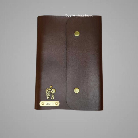 Brown Customised Leather Diary (A5)