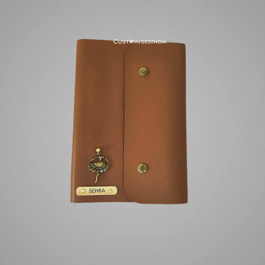 Tan Customised Leather Diary (A5)