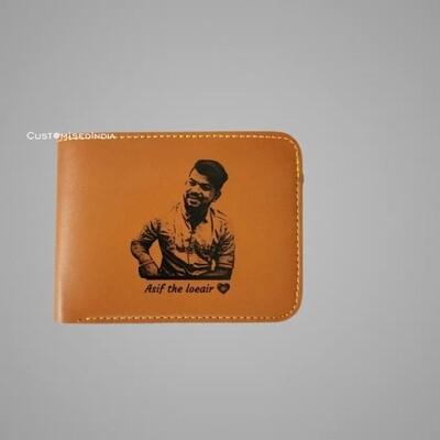 Tan Sketch Leather Wallet