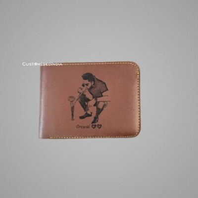 Brown Sketch Leather Wallet