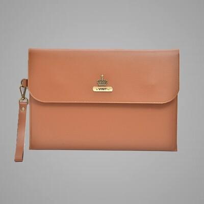 Tan Personalised Laptop Bag