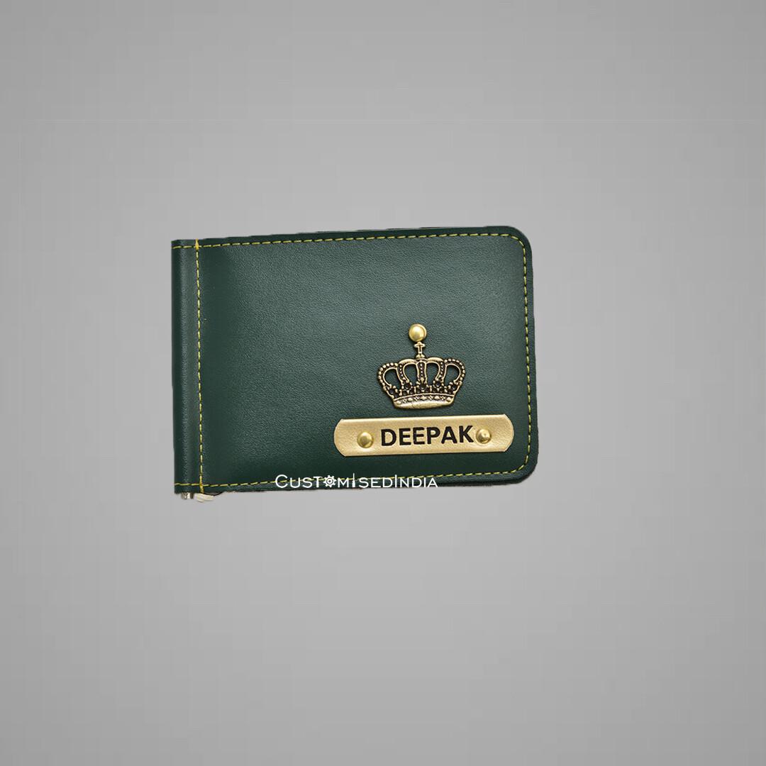 Customised Green Money Clipper