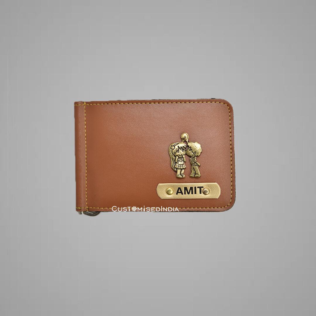 Customised Tan Money Clipper