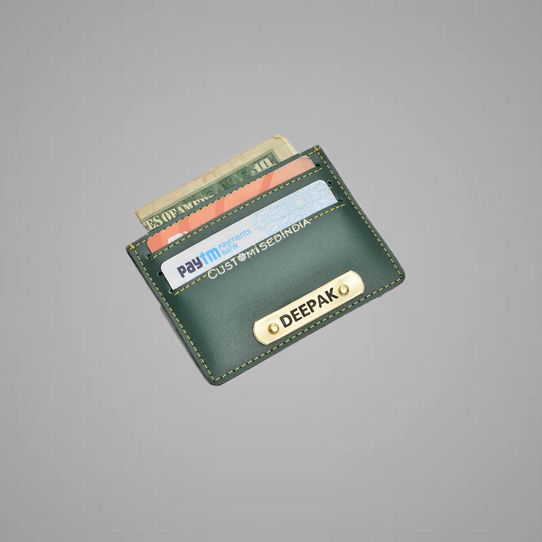 Green Customised Card holder