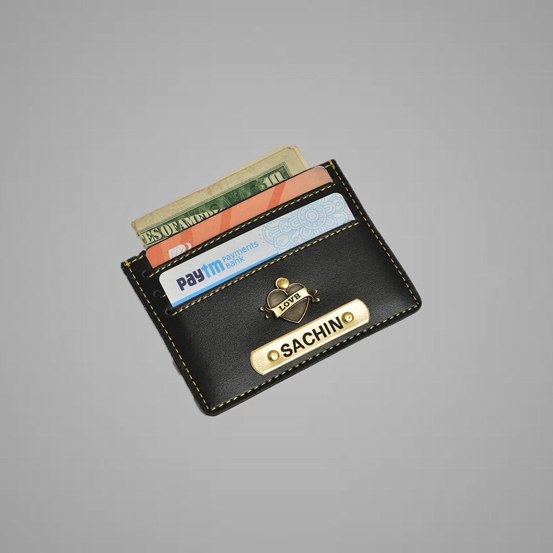 Black Customised Card holder