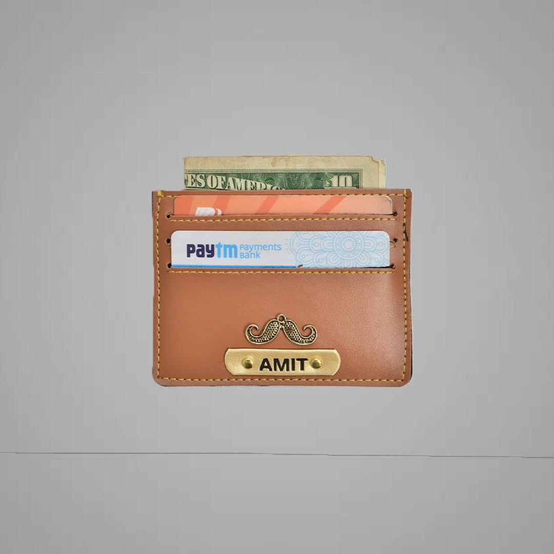 Tan Customised Card holder