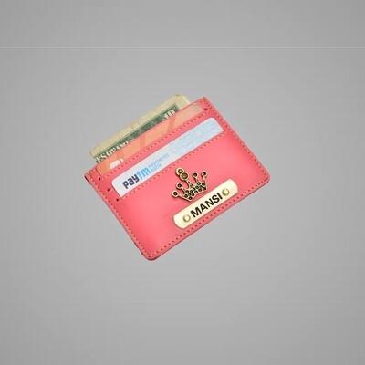Pink Customised Card holder