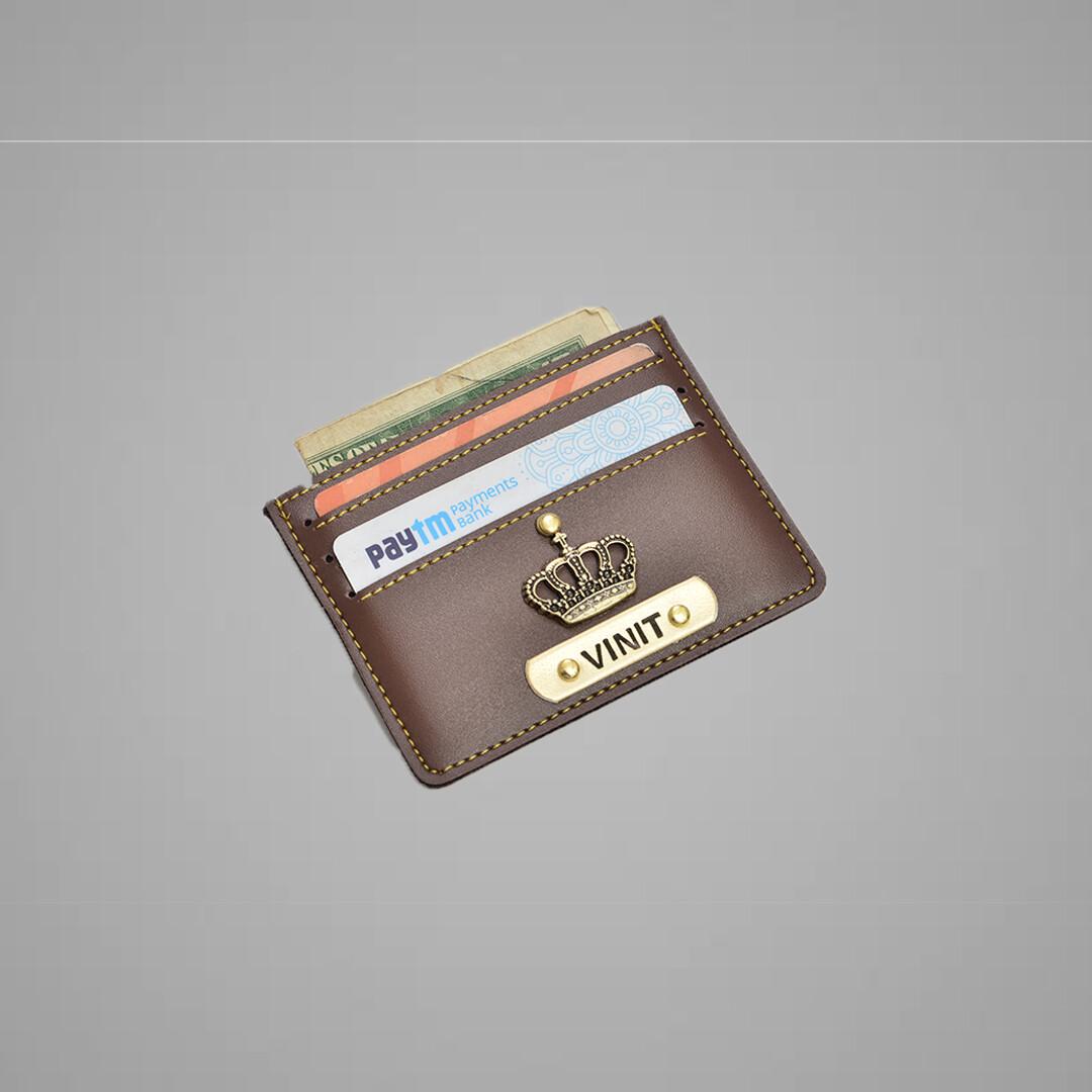 Brown Customised Card holder