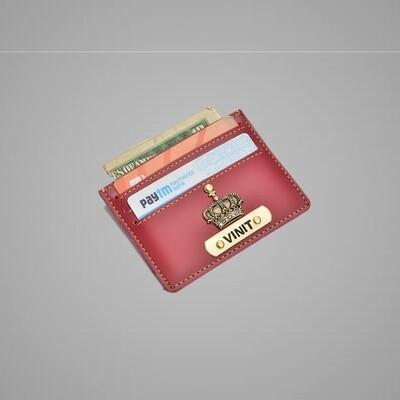 Red Customised Card holder